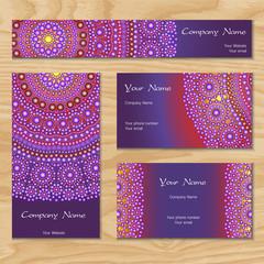 purple business card with mandala