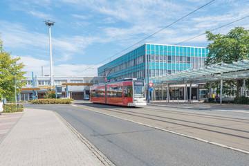 Plauen, Oberer Bahnhof, mit Straßenbahn