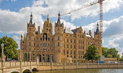 Schwerin Schloss - Brückenansicht