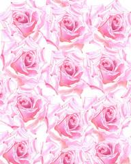 акварельный цветочный фон с розами, Может использоваться для оформления свадебных приглашений, обложек, праздничных открыток, текстиля, декупажа.