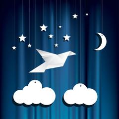 paper stars bird