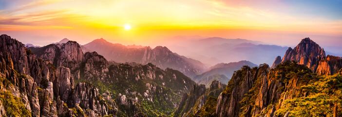 Foto auf AluDibond Gebirge Huangshan Gebirge in China
