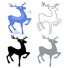 Marvellous deer stands (silhouette)