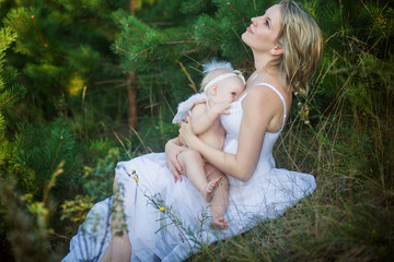 nursing mother on nature