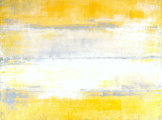 Grey and Yellow Abstract Art Painting Wall mural