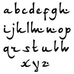 Vector Oriental font.