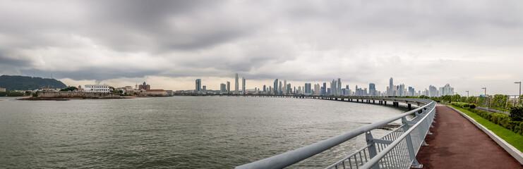 Panama City Skyline and Cinta Costera - Panama City, Panama
