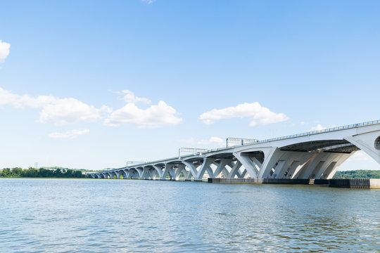 Potomac River Waterfront Neighborhood in Alexandria, Virginia during Summer