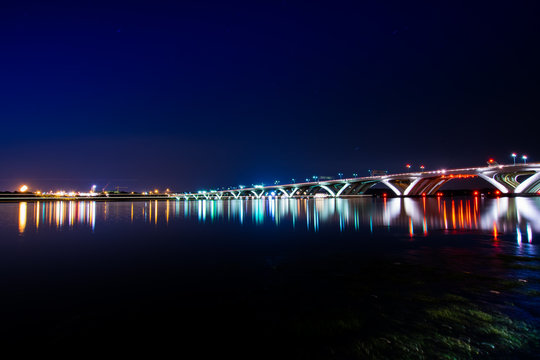 Woodrow Wilson Bridge at Night