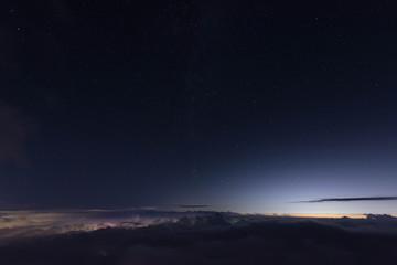 夜景 雲海 星空