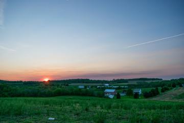 Sunseting In Glen Rock, Pennsylvania