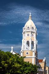 San Francisco de Asis Church Tower in Casco Viejo - Panama City, Panama