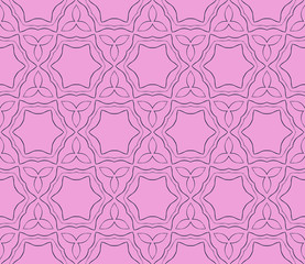 pattern with digital abstract floral and leave style