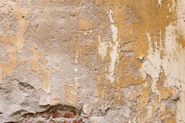 Fotobehang Oude vuile getextureerde muur Moldy brick wall background