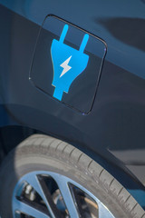 Electric car sign