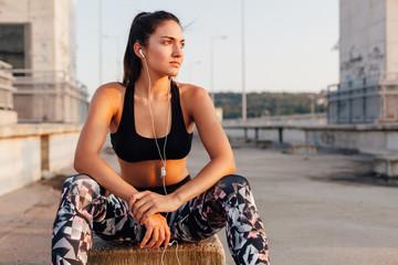 Sportswoman in sportswear
