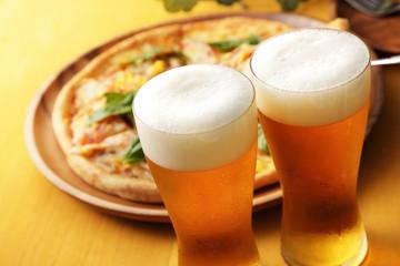 ビールとピザ Beer and Pizza