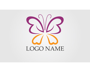 Logo Butterfly. Spa, yoga and relax # Vector