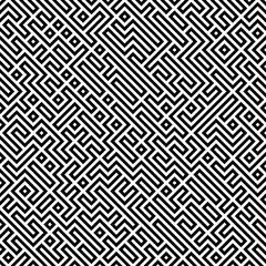 Raster Seamless Black And White Geometric Patttern