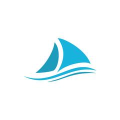 ship boat logo icon design vector