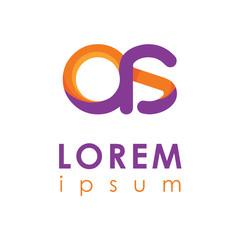 letter logo. multicolor