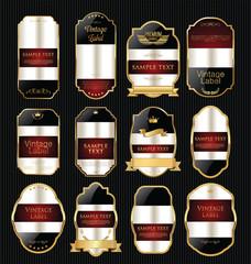 Golden empty sale labels retro vintage design collection