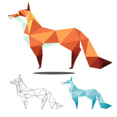 fox low polygon