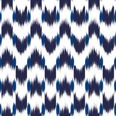 Ikat Seamless Pattern Design for Fabric.