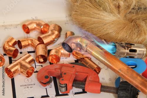 Kupferrohr mit flamme stockfotos und lizenzfreie bilder - Kupferrohr kaufen ...