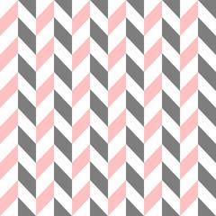 Pink and grey broken chevron pattern