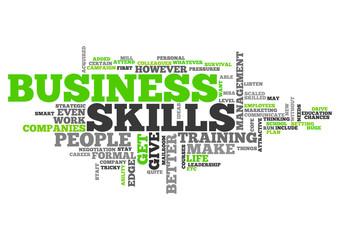 Word Cloud Business Skills