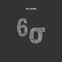Six sigma typography background