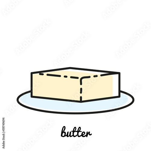 """Line art butter icon. Infographic element"" Stockfotos und ..."