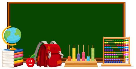 Blackboard and school materials
