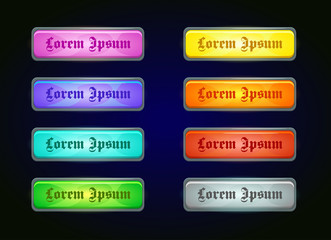 Colorful shiny horizontal game templates