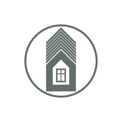 Home vector symbol, estate agency theme, can be used in advertis