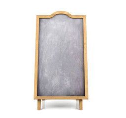 Blackboard menu isolated on white background
