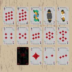playing cards deck diamonds