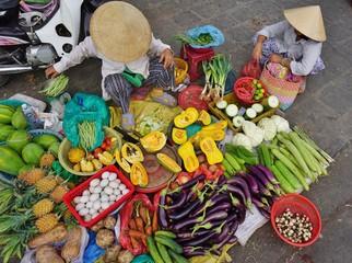 A street market in Hoi An, Vietnam
