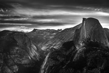 Yosemite National Park Sunrise Glacier Point Black and White