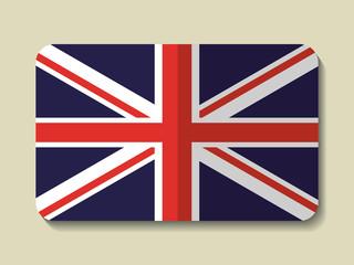flag frame london england landmark patriotic british culture icon. Colorful design. Vector illustration