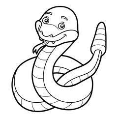 Coloring book, Rattlesnake