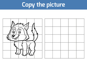 Copy the picture, Wolf