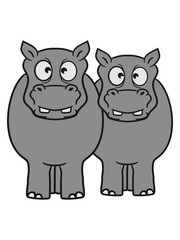 team couple couple 2 friends dick funny comic cartoon sweet little cute baby hippo happy child