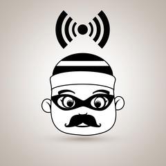 hacker security alarm vector illustration eps 10
