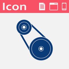 vector flat icon of belting. Web UI teamwork illustartion