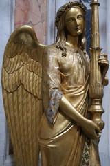Statue d'ange dans la Basilique Sainte-Marie-Majeure à Rome