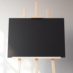 Black blank canvas. 3d rendering