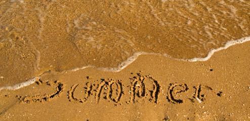 The inscription of the summer on the Sea Beach