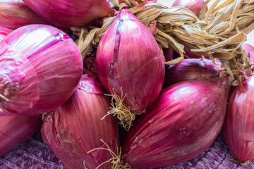 Tropea Onions on a wooden table